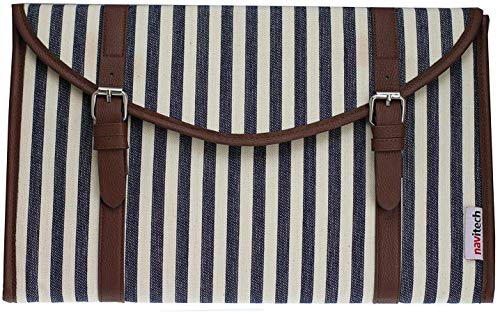 Navitech Canvas Fabric Style Laptop Sleeve Bag Case Cover Compatible with The MSI GL63 8SC-059 15.6' Gaming Laptop
