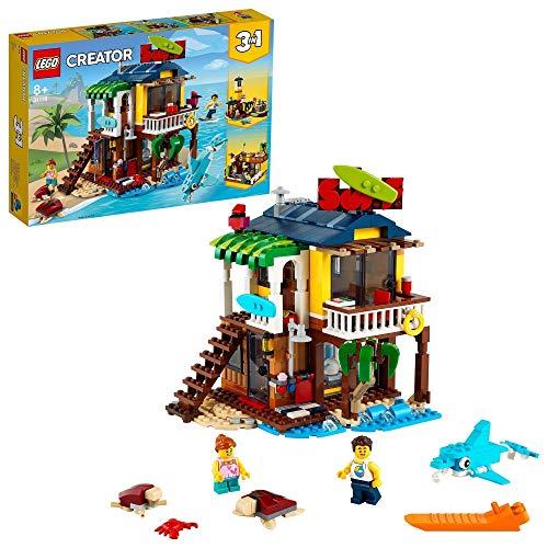LEGO 31118 Creator 3en1 Casa Surfera en la Playa Set de Construcción con Faro y Casa de Verano con Piscina