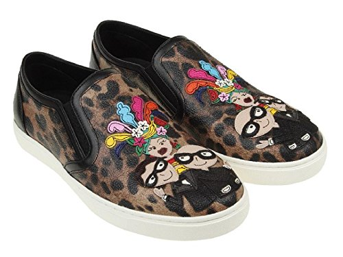 Dolce&gabbana Women's Multi-Color Leather Slip-ons Shoes - Size: 6 US