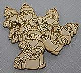 Generisch Babbo Natale in legno da appendere all'albero di Natale Suprise Man