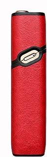 JTLife IQOS3 Multi ケース アイコス3 マルチ 保護ケース カバー 本革 デニム IQOS3.0 Multiをオシャレに持ち運び 耐衝撃 指紋防止おしゃれ人気便利収納 四色利用可能 (IQOS 3.0M, 赤)