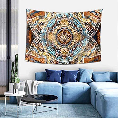 N\A Tapiz de Pared Vector Fondo Cuadrado Mandala Tapiz Decorativo Redondo Colgante de Pared Tapiz para Hombre Decoración de Arte de Pared para Dormitorio Sala de Estar Dormitorio