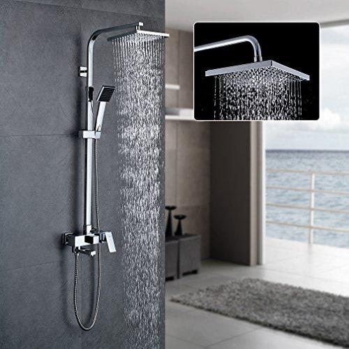 AURALUM Bathroom Complete Rain Mixer Shower Combo...