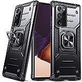 DASFOND Armor Hülle für Samsung Galaxy Note 20 Ultra 5G Hülle Militärische Stoßfeste Handyhülle [Upgrade 2.0] Cover 360 ° Ständer mit Auto Magnet,Schwarz