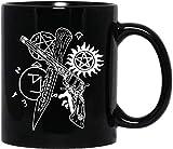 BEEMUGS #Supernatural Tattoo Sam #Winchester #Castiel #Dean #Winchester Mens Womens Coffee Mugs Tea Cups