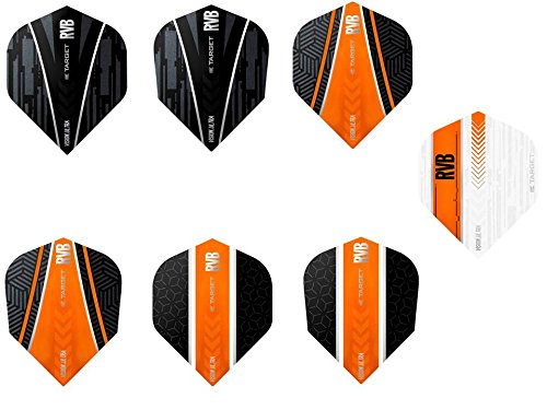 TARGET 5 x gemischt Sets of RVB Raymond Van Barneveld Vision Ultra Dart Flights inkl. Empire Checkout Card