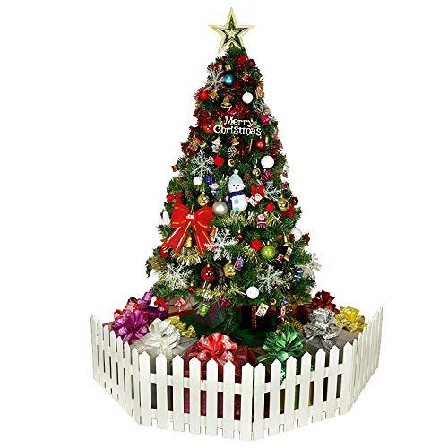 WARRT Arbol de Navidad Los Árboles De Navidad Set con Luces De Vacaciones Casa Decoración Nieve Año Nuevo Topper Árbol Ornamento 1.5M