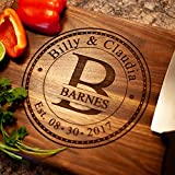Anniversary Gifts or Wedding Gift ; for couple or bride. Personalized Cutting Board, Anniversary Gift for Her, Gift for Men, Wooden Cutting Board - USA Handmade Cutting Board Laser Etched.
