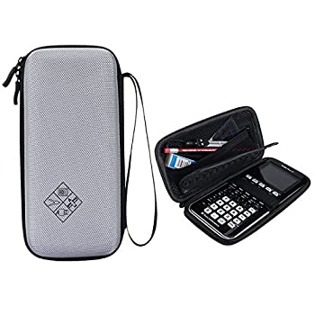 MASiKEN Hard EVA Carrying Case for Texas Instruments TI-84 / Plus TI-83 Plus CE Graphing Calculator More Space for Pen and Accessory  Grey