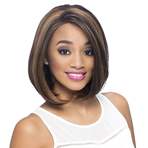 Vivica A Fox Hair Collection Jinny New Futura Synthetic Heat Resistant Fiber Full Lace Front Wig, STT1B/99J, 9.5 Ounce