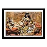 5D diy Diamante pintura tigre y niña punto de cruz cristal...