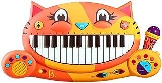 B.Toys 比乐 大嘴猫咪电子琴 早教动感音乐玩具 带麦克风 启蒙多功能乐器 音乐玩具 婴幼儿童益智玩具 礼物 2岁+ BX1025Z