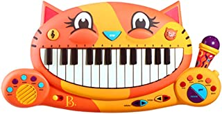 B Toys – Meowsic Toy Piano – Children'S Keyboard Cat Piano with Toy Microphone For Kids 2 years +