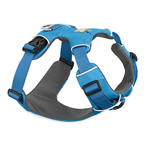 RUFFWEAR, Front Range Dog Harness, Reflective and Padded Harness for Training and Everyday, Blue Dusk, Medium
