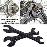Herramientas ajustables para juego de llaves de casa, 2 piezas para bicicleta de montaña, reparación de bujes, pedales, llaves y accesorios para bicicleta