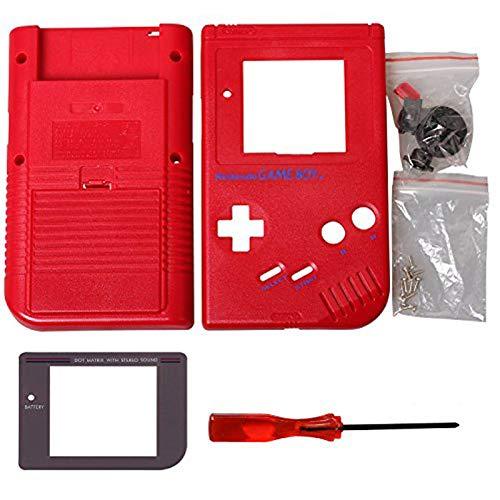 Timorn Ersatzgehäuse Shell Tasche für Gameboy GB Konsole (Rot)