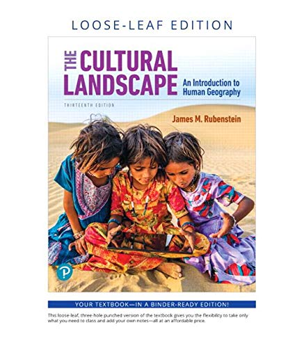 Download The Cultural Landscape: An Introduction to Human Geography, Loose-Leaf Edition (13th Edition) 0135204313