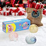 Mesh Stress Balls Toy, Mesh Squishy Grape Ball Stress Relief Squeeze Balls for Adults Kids Teens, Light Up Sparkly Fidget Toys Sensory Balls for Calm Focus Hand Exercise (Colorful, 6cm)