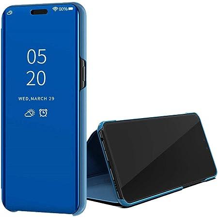 ColiColi Coque pour Huawei P Smart 2020 Antichoc 360 Bumper Smart Phone Etui à Rabat Clear View Miroir Mirror Translucide Housse Mince Stand ...