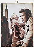 Cuadro de estilo vintage Marilyn Monroe & James Dean, impresión sobre madera, varios tamaños
