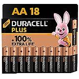 Duracell - NUEVO Pilas alcalinas Plus AA , 1.5 Voltios LR6 MN1500, paquete de 18