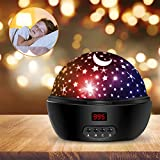 Kids Night Light, 360° Rotating Starry Night Light Projector for Baby, Star Projector Night Lamp for Kids Bedroom Decoration- White