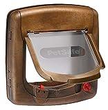 PetSafe - Chatière Magnétique Deluxe Staywell pour Chat avec Système de Verrouillage à 4 positions - Collier avec clé magnétique - Facile à installer - Finition Bois