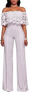 Best off shoulder jumpsuit white Reviews