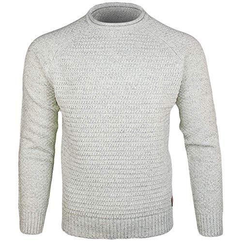 Emerald Isle Knitwear Kenmare Sweater (Winter White, L)