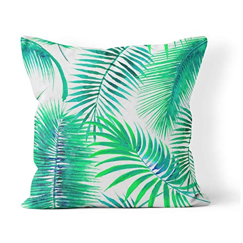 Hangdachang Green Caterpillar Life Cycle of The Swallowtail Butterfly Metamorphosis Cushion Pillowcase Home Bedroom Decorative Cushion Case For Living Sofas Square Pillow Cover 18x18 Inch