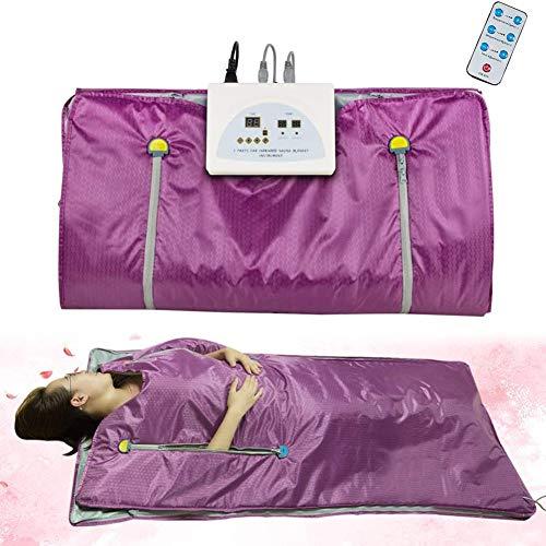 FJLOVE Far Infrarot Sauna Decke Khan Dampf 2 Zonen Digitale Wärme Abnehmen Detox Therapie Anti Aging Körper Home Beauty Maschine Ouoy