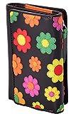 Visconti portafoglio di pelle da donna a piegatura tripla Multicolor Purse : (Daisy)
