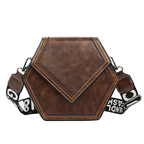 Ysswjzz Vrouwen handtas, luxe schoudertas top handvat Designer & duurzaam draagtassen Crossbody Handtas Multi Pocket grote zak (Color : Coffee)