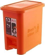 C-J-Xin 8L/13L Plastic Dustbins, Pedal Type Bathroom Waterproof Dustbin Multiple Colour Indoor Classified Trash Can Trash ...