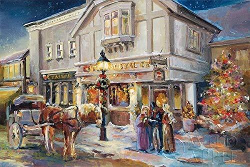 Rahmen-Kunst Keilrahmen-Bild – Marilyn Hageman: A Christmas Night Light Leinwandbild Weihnachten...