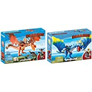 PLAYMOBIL 9459 Spielzeug - Rotzbakke und Hakenzahn Unisex-Kinder & 9247 - Astrid und Sturmpfeil