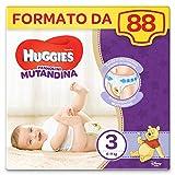 HUGGIES Pannolino Mutandina, Taglia 3 (6-11 Kg), Confezione da 88 Pannolini (2 x 44)