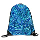 uykjuykj Bolsos De Gimnasio,Mochilas,Triangle Dots Sackpack Drawstring Backpack Waterproof Gymsack Daypack For Men Women Abstract Tribal Pattern6 Lightweight Unique 17x14 IN