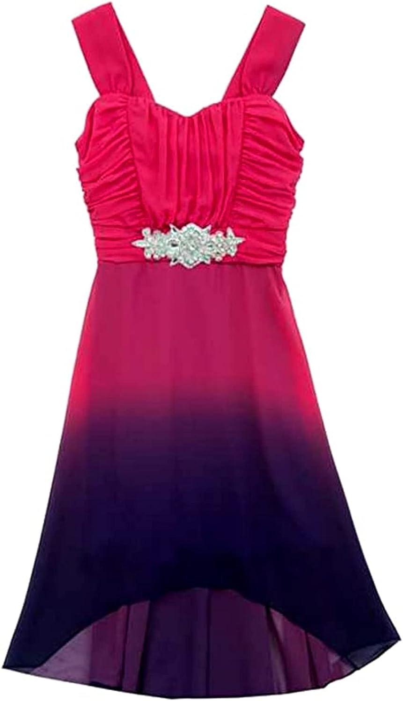 Rare Editions Big Girls Fuchsia Purple Ombre Dress