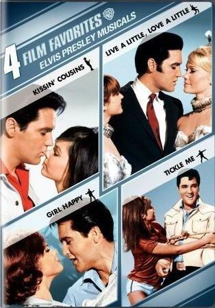 4 Film Favorites: Elvis Presley Musicals (Girl Happy / Kissin' Cousins / Live a Little, Love a Little / Tickle Me) -  DVD
