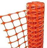 Callieway Agility Parcoursabgrenzung, Hundezaun, Sicherheitszaun, Bauzaun, Campingzaun 1,2m hoch, extra reißfest - in verschiedenen Längen, Orig (Spezial 120cm hoch / 25m Rolle/orange)