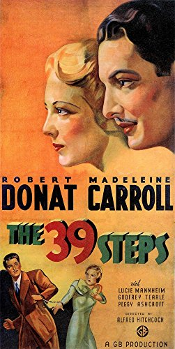 The 39 Steps Movie Poster Masterprint (11 x 17)