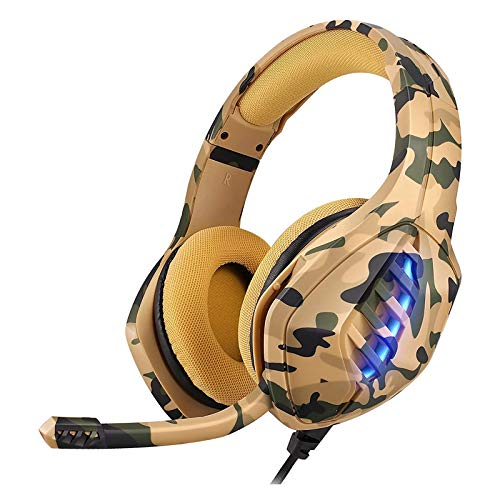 PS4 Headset, MOTOFOCO Gaming Headset with Surround Sound, Xbox One Headset with Noise Canceling Mic & RGB LED Light,Memory Earmuffs for PS4, PC, Xbox One Controller
