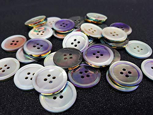 Bottoni Madreperla Colore Iridescente 12pz 20mm Giacca, Maglia, Abito, bricolage Uomo, Donna, Bambino