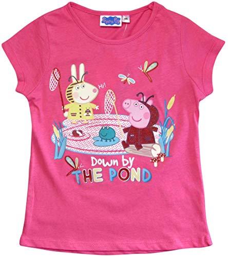 Peppa Wutz T-Shirt Mädchen Kurz Shirt Peppa Pig (Rosa, 92-98)