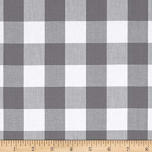 Robert Kaufman Kaufman 1in Carolina Gingham Grey Fabric By The Yard