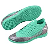 PUMA Unisex-Kid's Future 2.4 IT Jr Soccer Shoe, Color Shift-Biscay Green White Black, 4 M US Big Kid