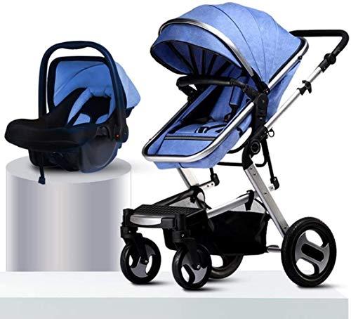 HZYD 3 en1 Extra-Large système de Stockage Voyage, Poussette bébé, légère Landau, Construction Durable, Design Compact Pliable (Couleur: Gris) (Couleur: Bleu), Couleur: Rose ( Color : Blue )