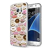 Funda Samsung Galaxy S7 Edge, Eouine Cárcasa Silicona 3D Transparente con Dibujos Diseño Suave Gel TPU [Antigolpes] de Protector Bumper Case Cover Fundas para Movil Samsung Galaxy S7 Edge (Donuts)