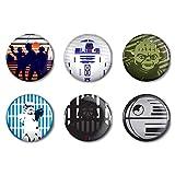 WinCraft Star Wars Star Wars Star Wars/Original Trilogy 2' Round Button 6 PackWinCraft Star Wars/Original Trilogy 2' Round Button 6 Pack, Multicolor, NA